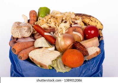 organic food waste wastage illustrated by full carbage