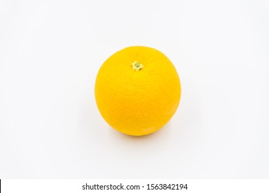 Organic freshness Orange fruit on Isolated white background