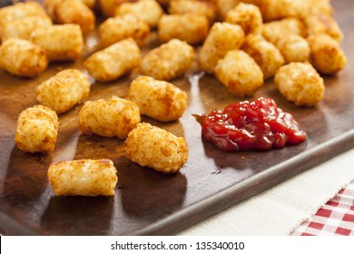 Organic Fried Tater Tots made from fried potato
