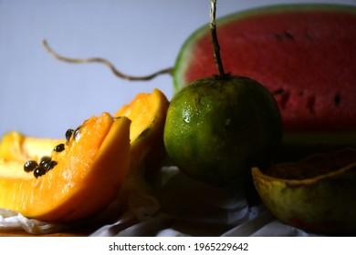 organic fruits stil life phothogrphy