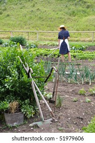 organic gardening with vintage tools