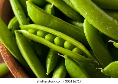 Organic Green Sugar Snap Peas Ready to Eat