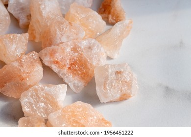 Organic Himalayan mineral salt crystals as cooking or healthy ingredient.