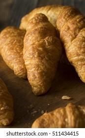 Organic Homemade Breakfast Croissants Ready to Eat
