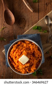 Organic Homemade Mashed Sweet Potatoes with Butter