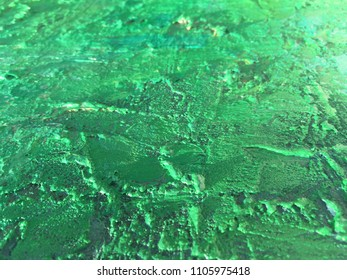 Organic matter background green painting texture.