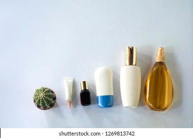 Organic natural science beauty product.cosmetic nature skincare and essential oil aromatherapy on white background.