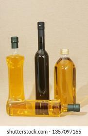 organic, olive oil bottles