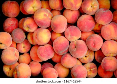 Organic Peaches for Sale at Marker by Grower Farmer