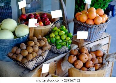 Organic Produce at the market