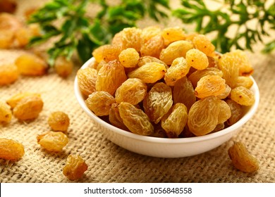 Organic raisins - dried sweet grapes