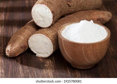 Organic raw Cassava Root Starch - Manihot esculenta.