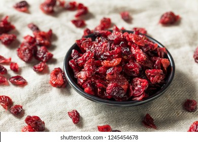 Organic Raw Dry Cranberries in a Bowl