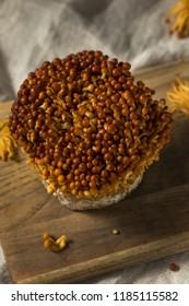 Organic Raw Golden Enoki Mushrooms Ready to Cook