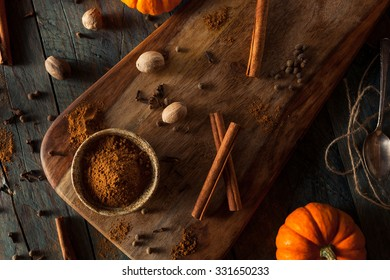 Organic Raw Pumpkin Spice with Cinnamon Allspice Nutmeg and Ginger