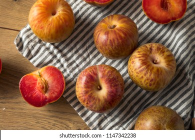 Organic Red Mottled Pluots Ready to Eat