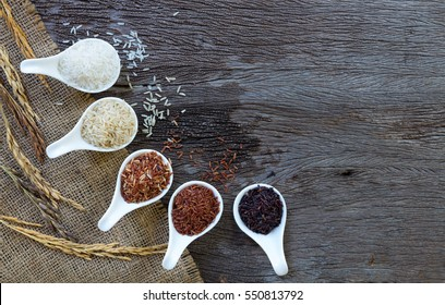 Organic rice, Mixed and texture for background