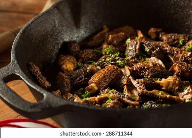 Organic Sauteed Morel Mushrooms REady to Eat
