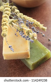 Organic soap with lavender and sage