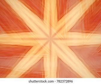Organic star pattern.