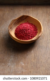 Organic sumac spice, food closeup