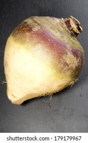 Organic swede on a dark background