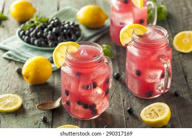 Organic Sweet Blueberry Lemonade in a Glass