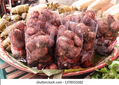 organic taro at street food