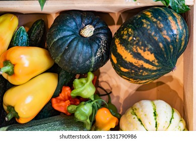 organic vegetables in the box, Seasonal organic veg box