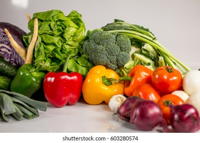 Organic vegetables Concept, Healthy Food