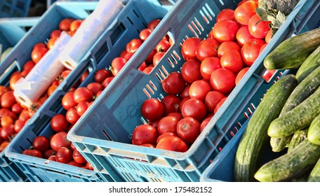 Organic Vegetables at the farmers market - Shutterstock ID 175482152