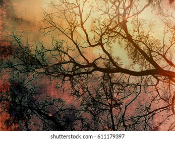 Organically abstract digital tree design