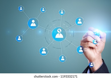 Organisation structure chart, people's communication network. HR, Human resources.