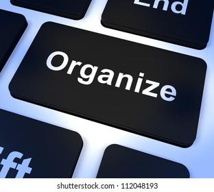 Organize Computer Key Shows Managing Online