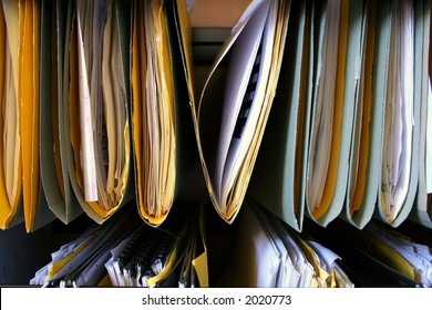 Organized files representing GDPR records management