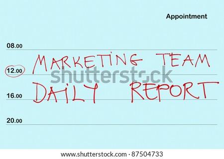 organizer book marketing team daily report stock photo edit now