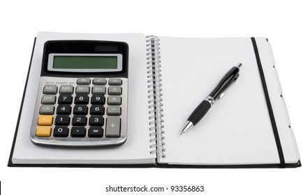 Organizer and calculator with pen