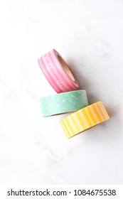 organizing with washi tape