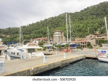 ORHANIYE/TURKEY - MAY 4 2014: Orhaniye. Marti Marina. Turkey. Asia Minor