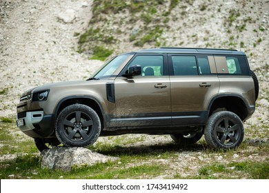 Orhei, Republic of Moldova: 24 May 2020. TestDrive New Land Rover Defender. Static Images Exterior.