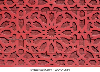 oriantal design, arabic pattern on wooden background
