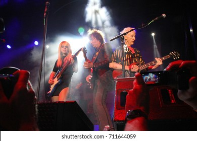 Orianthi, Richie Sambora, Robbie Krieger, at the 10th Annual Scott Medlock-Robby Krieger All-Star Concert for St. Jude Children's Research Hospital at Saddlerock Ranch in Malibu, CA on Aug. 27, 2017.