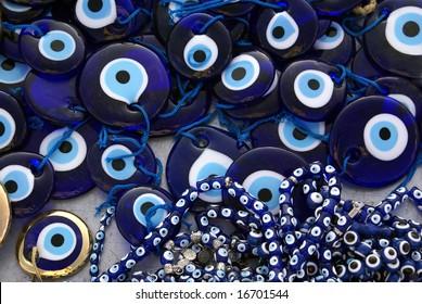 Oriental amulets from an evil eye