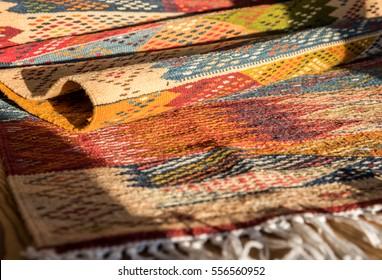"Oriental berber carpet ""Picasso"" from saharan tribe, Morocco"