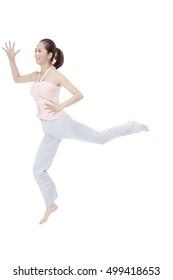 Oriental fashion female dancing