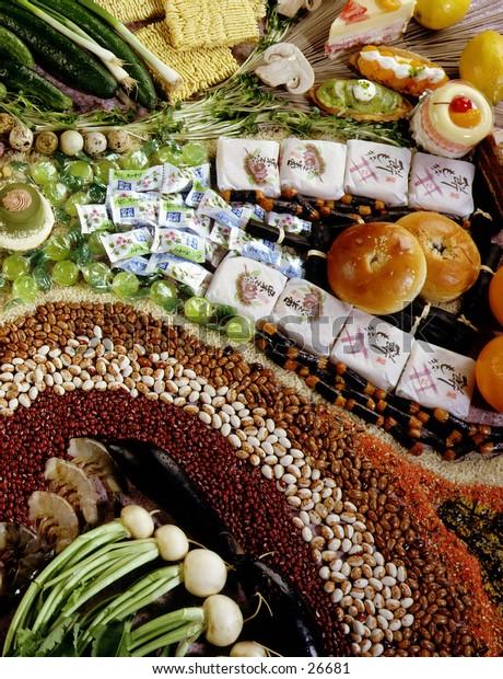 Oriental Food assortment