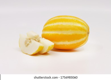 oriental melon isolated in white background