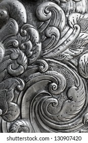 oriental pattern, engraving on silver
