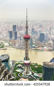 The Oriental Pearl Radio and TV Tower in Shanghai - China