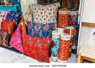 oriental pillows for sale at local middle eastern market